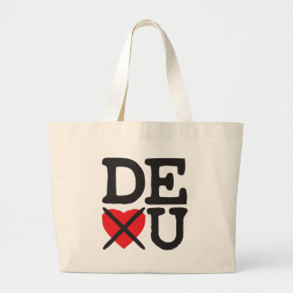 Delaware Hates You Large Tote Bag