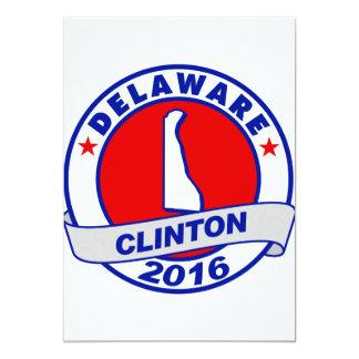 """Delaware Hillary Clinton 2016.png Invitación 5"""" X 7"""""""