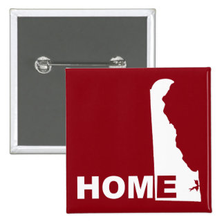 Delaware Home Away From State Button Badge Pin