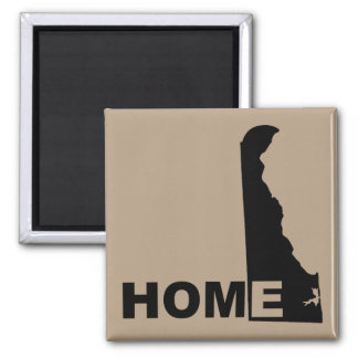 Delaware Home Away From State Fridge Magnet