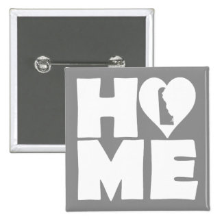 Delaware Home Heart State Button Badge Pin