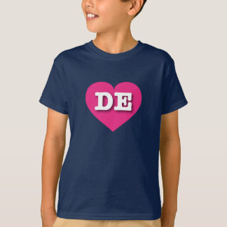 Delaware Hot Pink Heart - Big Love T-Shirt
