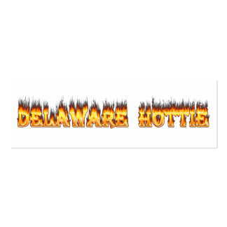 Delaware hottie fire and flames business cards