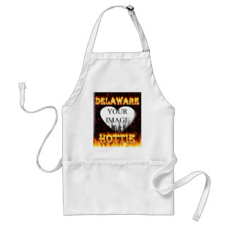 Delaware hottie fire and flames design. adult apron