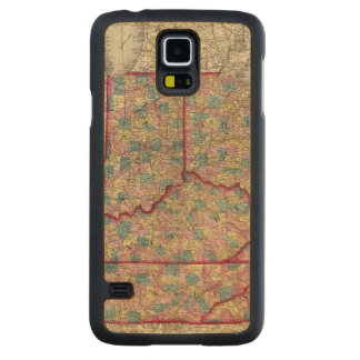 Delaware, Illinois, Indiana, and Iowa Carved Maple Galaxy S5 Slim Case