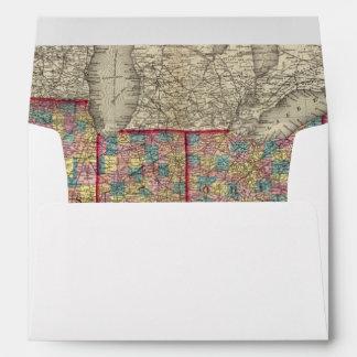 Delaware, Illinois, Indiana, and Iowa Envelopes