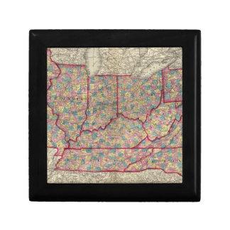 Delaware, Illinois, Indiana, and Iowa Keepsake Box