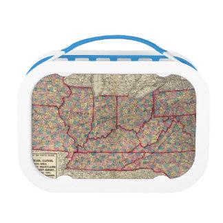 Delaware, Illinois, Indiana, and Iowa Lunch Box