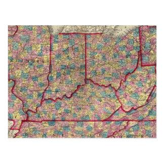 Delaware, Illinois, Indiana, and Iowa Postcard