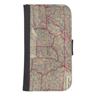 Delaware, Illinois, Indiana, and Iowa Samsung S4 Wallet Case