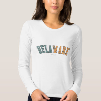 Delaware in state flag colors t-shirt