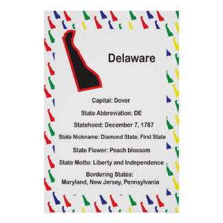 Delaware Information Educational Poster