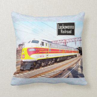 Delaware Lackawanna and Western Locomotive 808 Throw Pillow