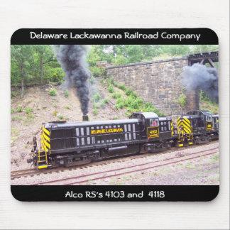 Delaware Lackawanna Railroad Company Alco RS-3s Mouse Pad