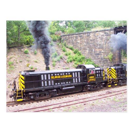 Delaware Lackawanna Railroad Company Alco RS-3s Postcard