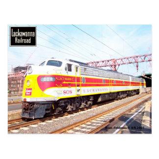 Delaware Lackawanna y locomotora occidental 808 Postal