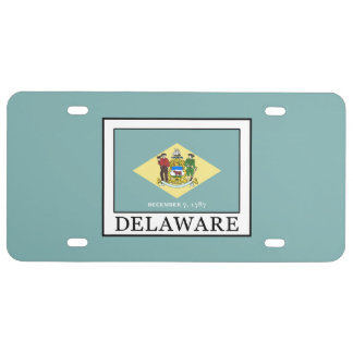 Delaware License Plate