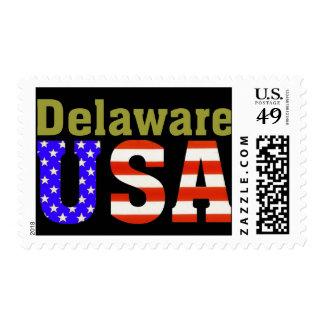 ¡Delaware los E.E.U.U.! Estampilla