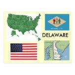 Delaware, los E.E.U.U. Postales