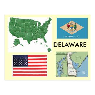 Delaware, los E.E.U.U. Tarjeta Postal