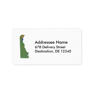 Delaware Map Address Label