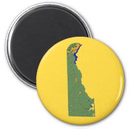 Delaware Map Magnet