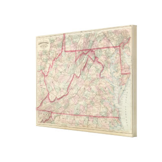 Delaware, Maryland, Virginia, West Virginia Stretched Canvas Prints