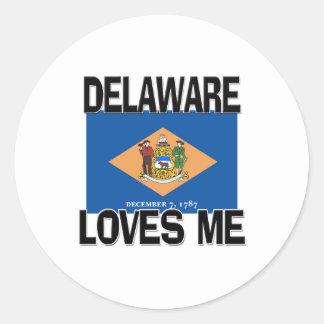 Delaware me ama etiqueta redonda