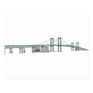 Delaware Memorial Bridge 3D Model Postcards