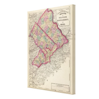Delaware, Montgomery, Bucks counties Gallery Wrapped Canvas