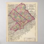 Delaware, Montgomery, Bucks counties Poster