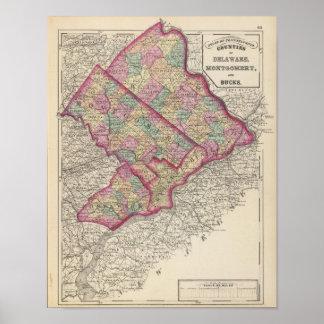Delaware Montgomery condados de los dólares Impresiones