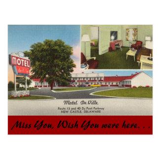 Delaware, Motel DeVille Postcard