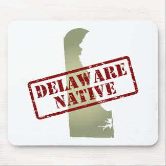Delaware Native Stamped on Map Mouse Pad