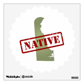 Delaware Native with Delaware Map Wall Decal