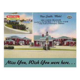Delaware, New Castle Motel Postcard