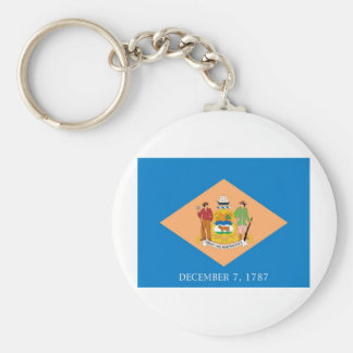 Delaware  Official State Flag Basic Round Button Keychain