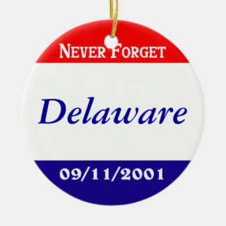 Delaware Double-Sided Ceramic Round Christmas Ornament
