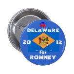 Delaware para Romney 2012 Pin