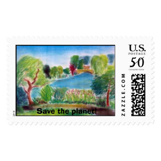 Delaware park Buffalo,NY, Save the planet! Postage