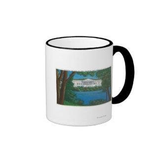 Delaware Park Historical Bldg and Lake View Ringer Coffee Mug