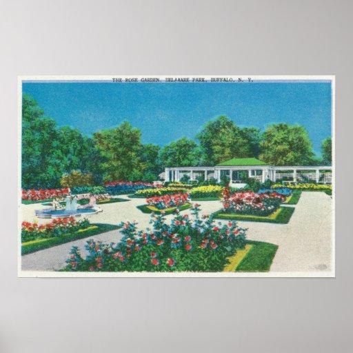 Delaware Park Rose Garden View Poster