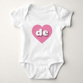 delaware pink heart - mini love baby bodysuit