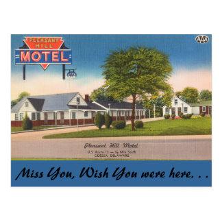 Delaware, Pleasant Hill Motel Postcard