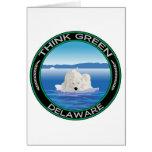 Delaware polar verde tarjeta