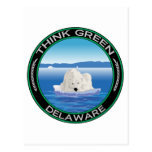 Delaware polar verde tarjeta postal