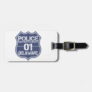Delaware Police Department Shield 01 Bag Tag