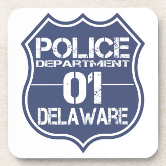 Delaware Police Department Shield 01 Drink Coaster