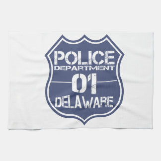 Delaware Police Department Shield 01 Kitchen Towels