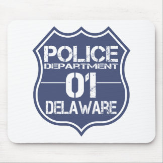 Delaware Police Department Shield 01 Mouse Pad